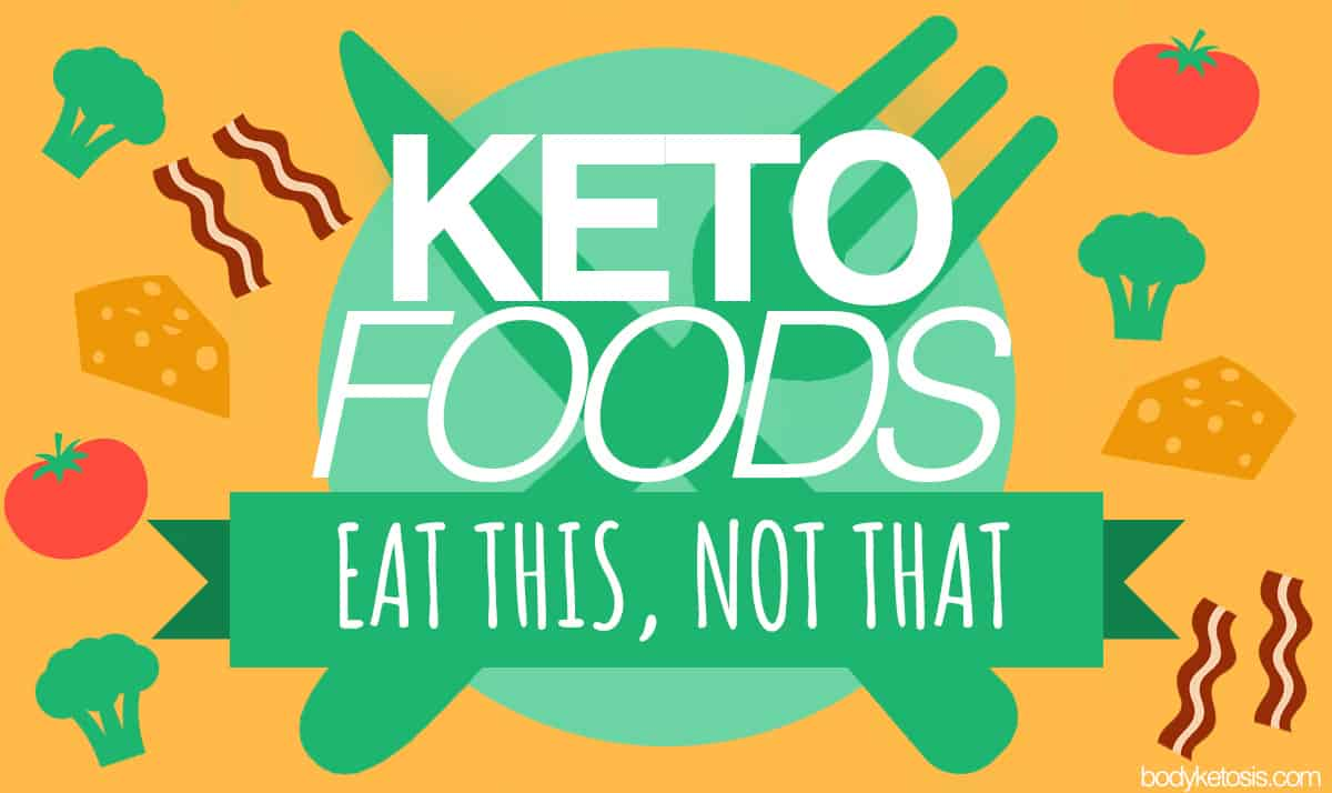 The comprehensive list of ketogenic diet foods: eat this, not that