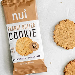 keto snack nui peanut butter cooikie