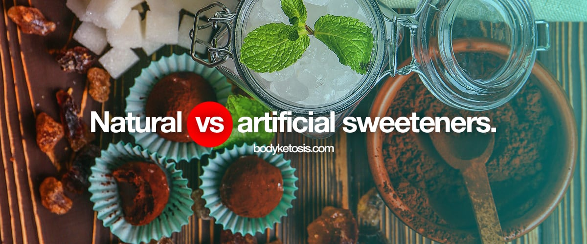 types of sweeteners - artificial vs natural sweeteners