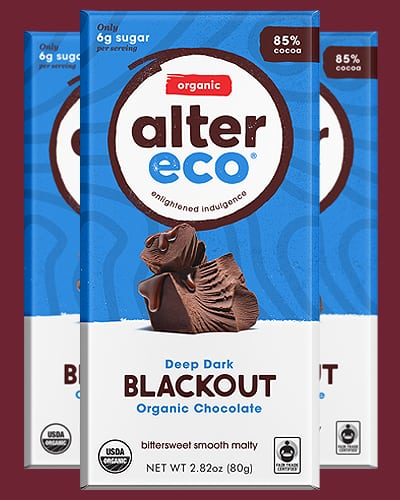 alter eco dark blackout keto chocolate
