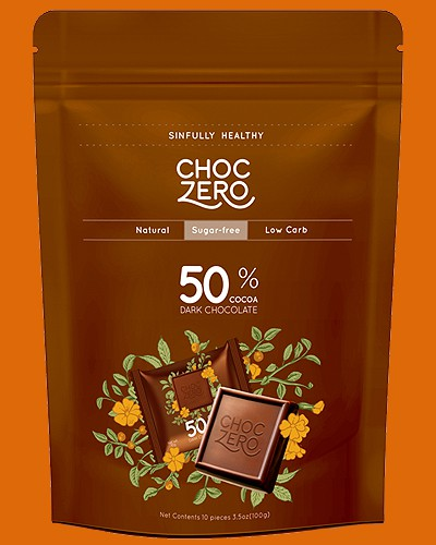 choc zero keto chocolate 50%