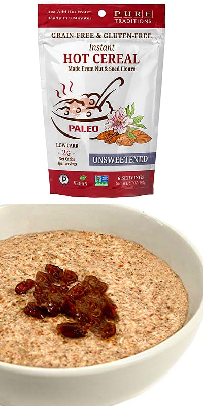 Pure Traditions Instant Hot Cereal keto cereal