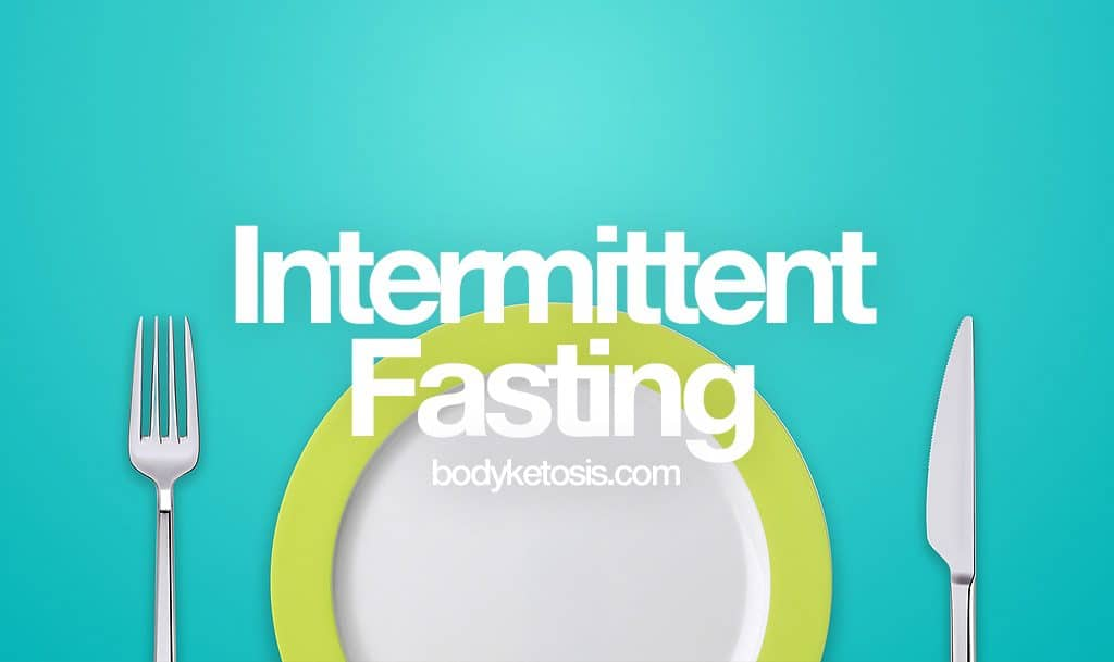 intermittent fasting with a plate
