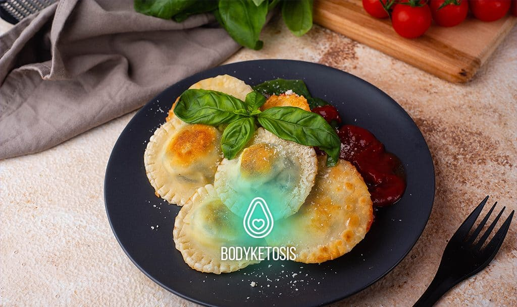 picture of keto ravioli