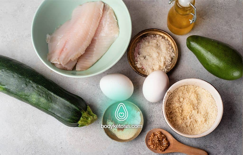 ingredients of keto fish and chips